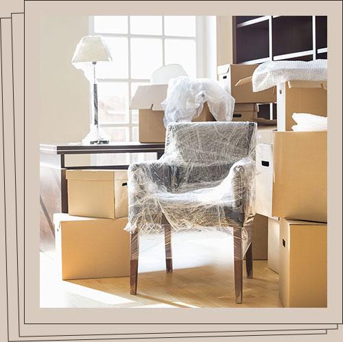 Gut-verpacktes-Umzugsgut